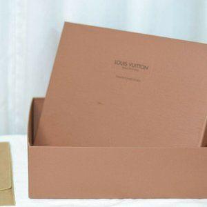 """LOUIS VUITTON DUST BAG & BOX EMPTY LARGE 14""""X 10"""""""